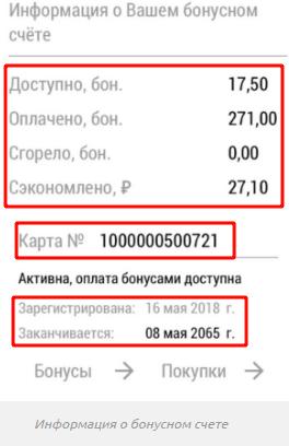 Информация о бонусном счете онлайн